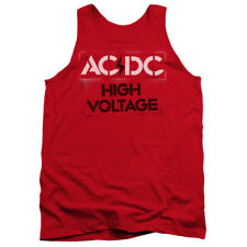 ACDC AC-DC Rock Band HIGH VOLTAGE STENCIL Licensed Adult Tank Top All Sizes
