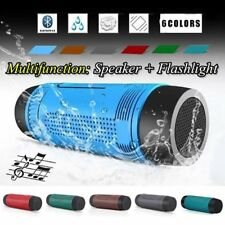 Waterproof Wireless Bluetooth Power Bank Speaker Flashlight Microphone FM TF