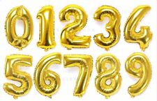 Foil Balloons Air Gold Number Happy Birthday Decoration Event Party Supplies