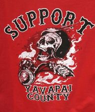 HELLS ANGELS SUPPORT YAVAPAI 81 RED SKULL RIDER FROM THE SMOKE