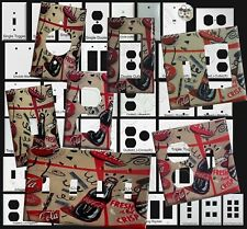 Coke Coca Cola bottles wallpaper  Light Switch Outlet Cover Plate Home decor