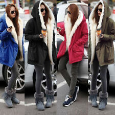 Ladies  Winter Warm Thick Coat Faux Fur Coat Jacket Parka Hooded Trench Outwear