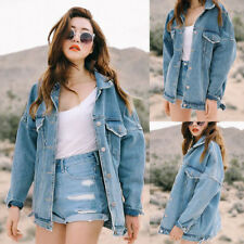Retro Coat Women Oversize Loose Jacket Casual Denim Jeans Coat Outwear