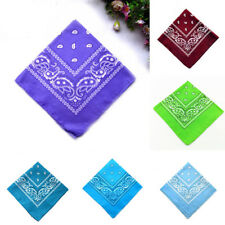 Fashion Women Men Square Scarf Paisley Neckerchief Shawl Wrap Bandana Scarves UB