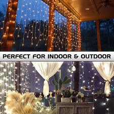 10M 100 LED Christmas Tree Fairy String Party Lights Icicle Lamp Xmas Waterproof