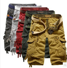 Mens Military Combat Camo Shorts Cargo Pants Casual Work Short Army Trouser