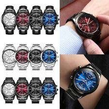Men Watch Waterproof Stainless Steel Quartz Analog Luxury Business Wristwatch