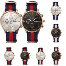 Mens Watches Canvas Band Fashion Casual Sport Analog Military Army Wristwatch