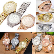Men Rhinestone Wristwatch Stainless Steel Quartz Analog Luxury Fashion Watch