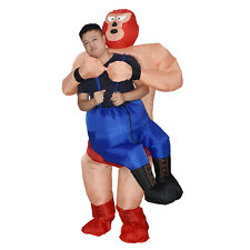 Wrestler Costume Adult Men Inflatable Blow Up Suit Party Cosplay Carnival Outfit