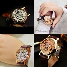 Men Women Quartz Analog Watch PU Leather Fashion Casual Male Female Wristwatch