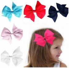 Kids Baby Girls Cute Bow Hair Headband Ribbon Bow Clip Alligator Party US Stock