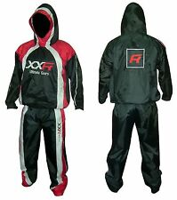 XXR Hooded Heavy Duty Sweat Suit Sauna Exercise Gym Suit Excersize Fitness