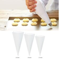 3 Size Reusable Piping Bag Icing Fondant Cake Cream Decorating Pastry Tip Tool