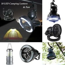 LED Light Fan Tent Portable Outdoor Camping Fishing Hiking Hanging Lantern Lamp