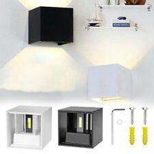 AU Modern 12W COB LED Wall Lamp Cube Indoor Outdoor Home Sconce Light Decor New