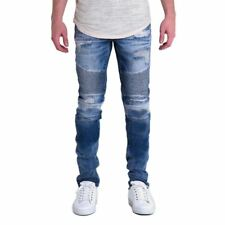 Men New Fashion Design Solid Color Destroyed Ripped Pencil Jeans
