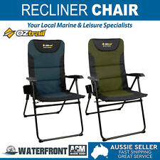 OZtrail Portable Reclining Chair Resort Outdoor Camping Beach Folding Lounge