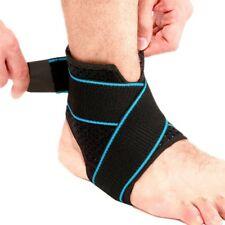 US Ankle Support Brace Wrap Belts Elastic Compression Sleeve Sports Relief Pain