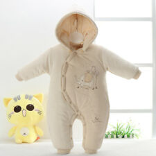 Winter Baby Clothes Cotton Newborn Baby Rompers Elephant Hooded Overalls Outfits