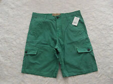 LUCKY BRAND CARGO SHORTS MENS SIZE 33 ZIP FLY WITH DRAW STRINGS GREEN COLOR NWT