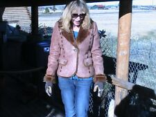POWDER RIVER OUTFITTERS Coat/Faux leather/suede shearling-Womens Large CCTC-205
