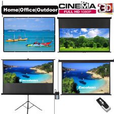 """100"""" Projector Screen Electric Motorised/Manual 4K HD Theatre Outdoor Projection"""