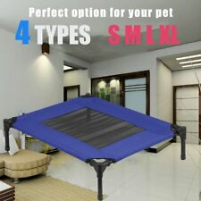 BLUE Heavy Duty Pet Dog Cat Summer Bed Trampoline Hammock Cot Size S M L XL KE