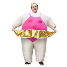 Ballerina Costume Adult Inflatable Blow Up Suit Carnival Party Cosplay Outfit
