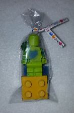 Set of 4 Packaged Lego Men & Block Crayons Birthday Party Favor Pack of 10 or 25