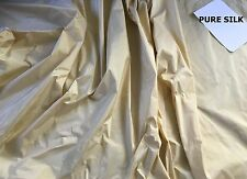 CREAM PURE SILK, THERMAL INTERLINED MTM CURTAINS 5FT-15FT WIDE. MADE ORDER LONG