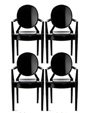 4 Chairs SET LOUIS GHOST Chair Armrests Design Kartell Philippe Starck Home