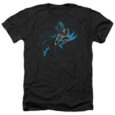 Batman NEON BATMAN Action Shot Licensed Adult Heather T-Shirt All Sizes