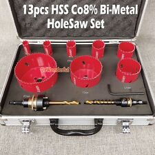 Hole Saw 13 Piece Co8% Bi Metal HSS Holesaw Professional Plumbing Electricians