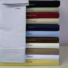1000TC SOFT EGYPTIAN COTTON COMPLETE BEDDING ITEMS UK SUPER KING ALL SOLID COLOR