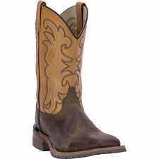 Dan Post Mens Tan Ferrier Leather Cowboy Boots Distressed Spice