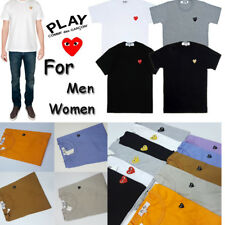 Fashion Men & Women COMME DES GARCONS CDG PLAY Mini Heart Short Sleeve T-shirts