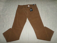 GAP CORDUROYS STRAIGHT PANTS MENS SIZE 30X30 ZIP FLY LIGHT BROWN COLOR NWT