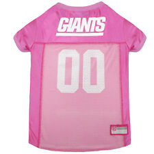 Pets First New York Giants NFL Pink Mesh Jersey