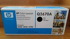 GENUINE HP TONER CARTRIDGE YELLOW Q2672A/BLACK Q2670A NEW in Box 3500 or 3550