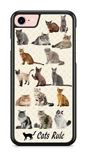 Cats Rule Collage Design Phone Case fits iPhone Samsung Google LG etc.