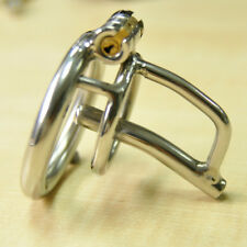 Male Stainless Steel Chastity Cage Tube Lock Belt with Barbed Ring