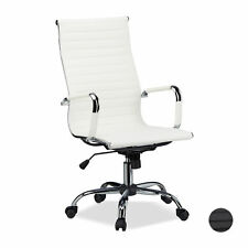 Office Desk Chair, Ergonomic Swivel Executive Chair with Wheels, 120 kg