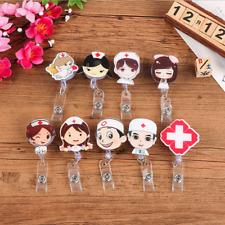 Retractable Badge Reel Nurse Exihibiton ID Name Card Badge Holder Office Supply