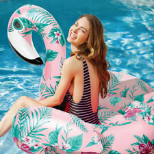 YhsBUY® Inflatable Floral Print Flamingo Giant Pool Float Circle Party Water Toy
