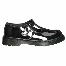 Dr.Martens Goldie Black Kids Patent Lamper Leather Mary Jane T-Bar School Shoes