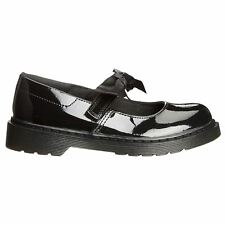 Dr.Martens Maccy II Black Kids Patent Lamper Leather Bow School Mary Jane Shoes