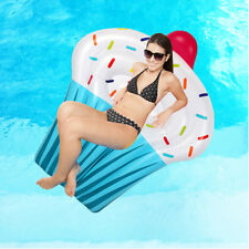 YhsBUY® Inflatable 1.6M Giant Ice Cream Cone Pink Pool Toy Float Pool Swim Ring