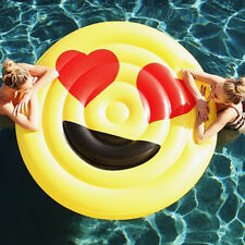 YhsBUY® Giant Summer Funny Emoji Pool Float Inflatable Swimming Bed Kids Toys