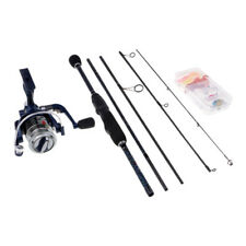 Fishing Rod Combos Spinning Pole with Reel 5 Pieces Travel Rod Fishing Kits